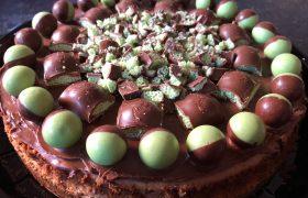 Mint Aero Cheesecake (baked)